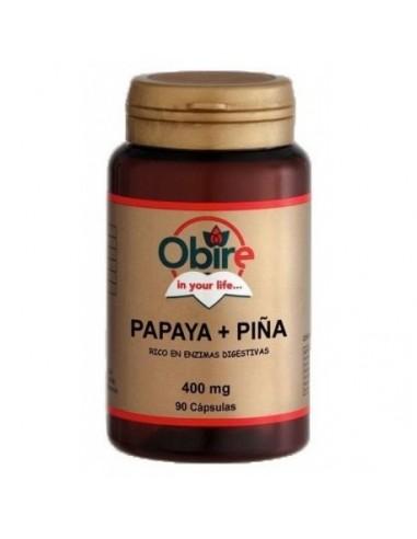 Papaya + piña 400mg 90caps Obire