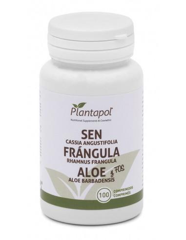 Sen, frángula y aloe 100comp Plantapol