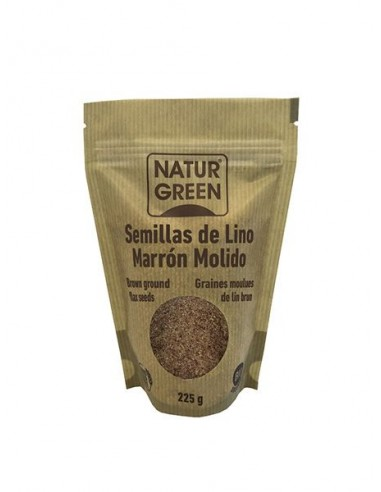 Lino marrón molido Bio 225g Naturgreen