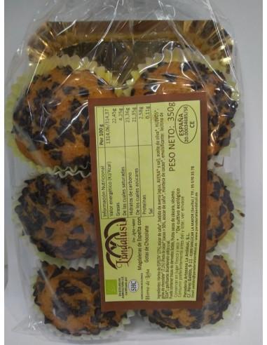 Magdalenas de espelta con chocolate...