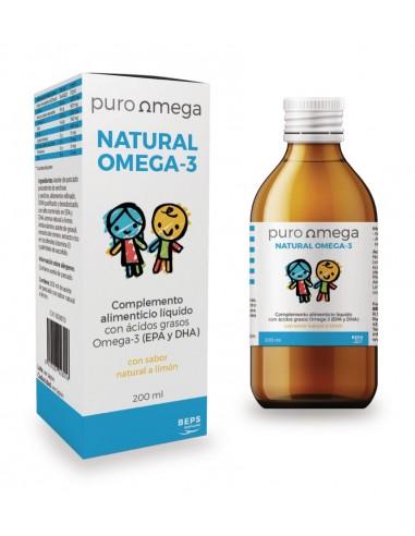 Natural omega 3 niños 200ml Puro Omega