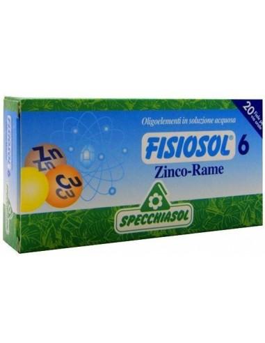 Fisiosol 6 zinc y cobre 20 viales...