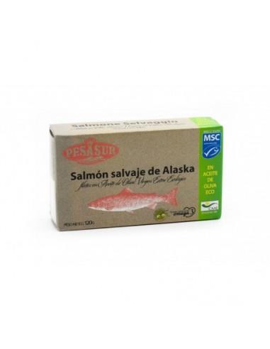 Lomos de salmon salvaje lata 120g...