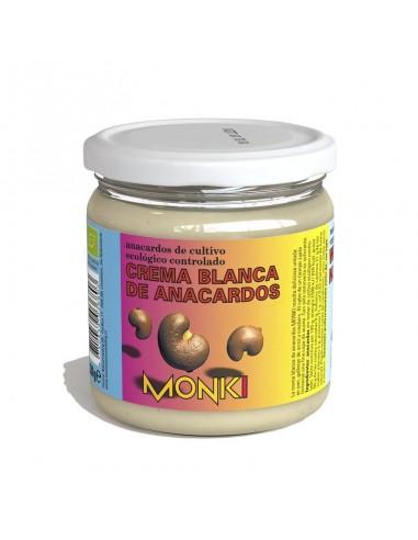 Crema de anacardos blanca Bio 330g Monki