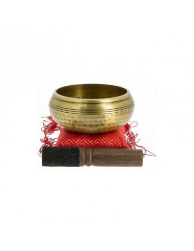 Cuenco tibetano 5 Budas 10cm Tierra Zen