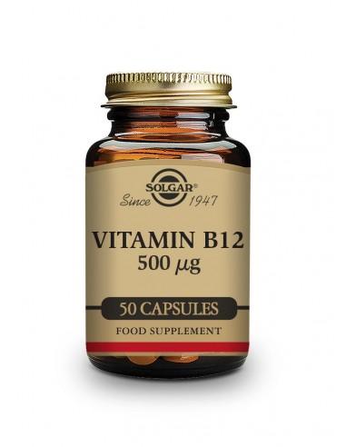 Vitamina B12 500mcg 50vcaps Solgar