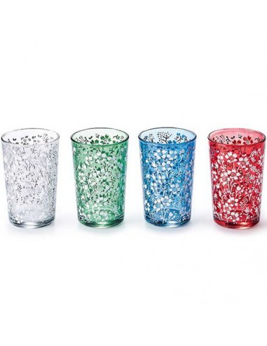 Vaso suleika, cristal decorado 0,20l 1ud