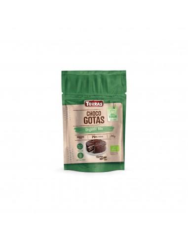 Gotas de chocolate negro 70% Bio 200g...