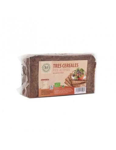 Pan alemán de tres cereales Bio 500g...