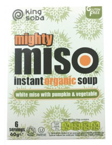 Sopa de miso con calabaza y verduras...