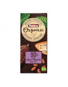 Chocolate negro 90% criollo...