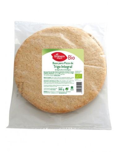 Base pizza de trigo integral Bio 300g...