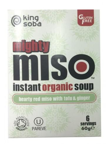 Sopa de miso con tofu y jengibre Bio...