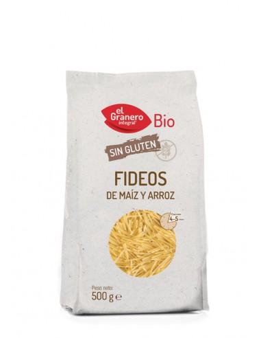 Fideos de maíz y arroz sin gluten Bio...