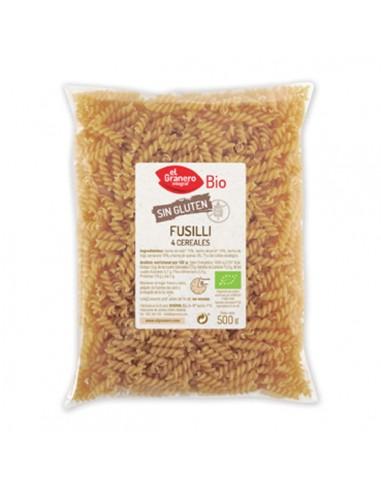 Fusilli de 4 cereales sin gluten Bio...