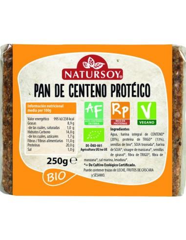Pan de centeno proteico Bio 250g...
