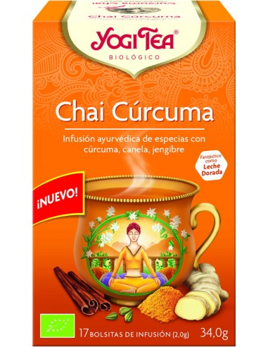Yogi Tea Chai Cúrcuma 17 bolsitas