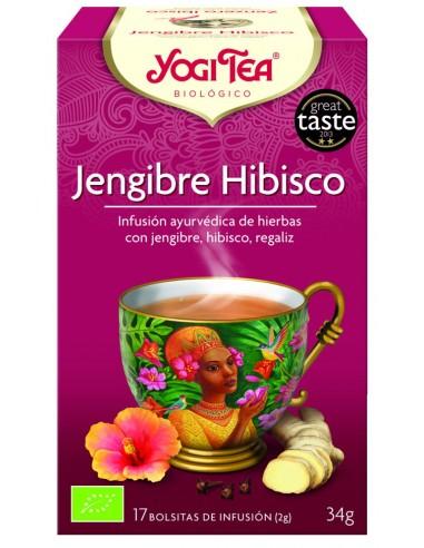 Yogi Tea Jengibre Hibisco 17 bolsitas