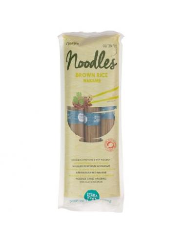 Noodles de arroz integral y wakame...