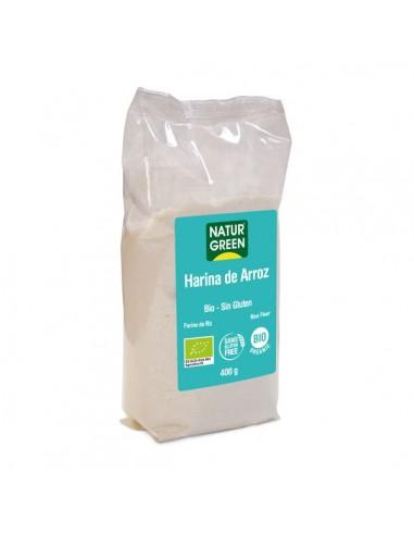 Harina de arroz sin gluten Bio 400g...