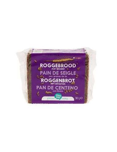Pan de centeno con linaza Bio 500g...