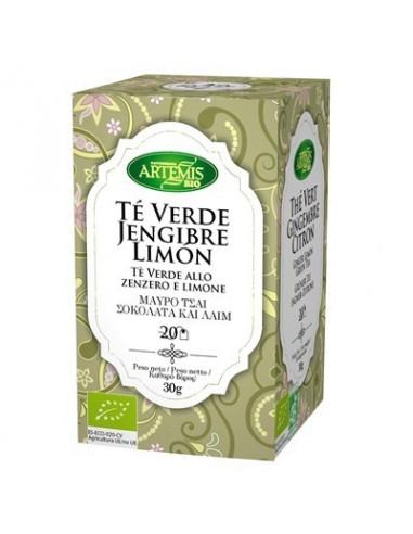 Té verde jengibre y limón premium Bio...