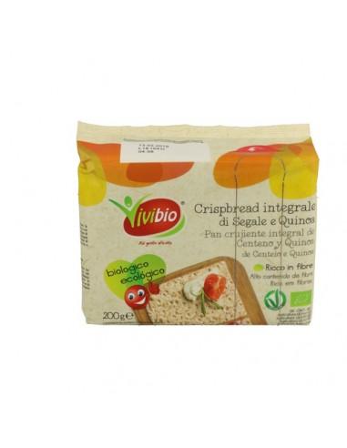 Pan crujiente de centeno quinoa Bio...