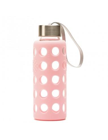 Botella BBO funda silicona rosa 300ml...
