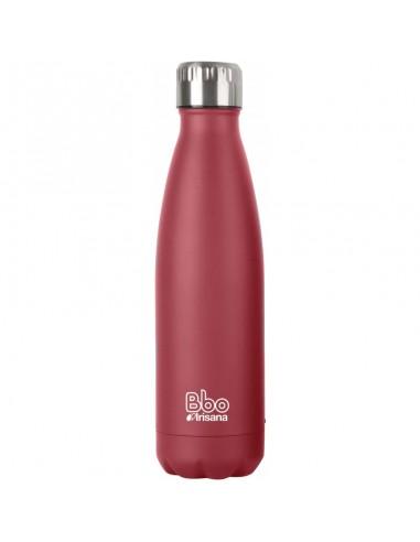Botella BBO termo acero inox rojo...