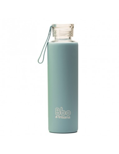 Botella BBO silicona azul 550 ml Irisana