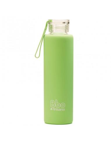 Botella BBO silicona verde 550ml Irisana