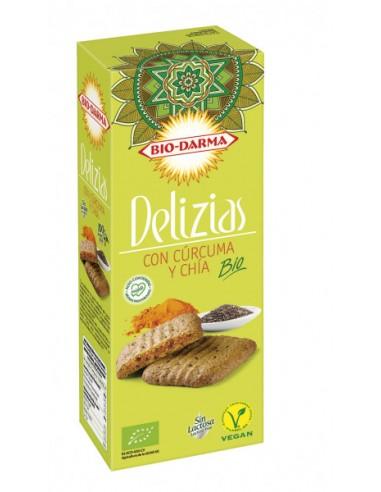 Delizias con cúrcuma y chía Bio 125g...